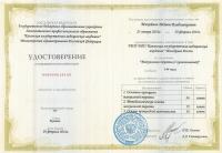 Удостоверение о повышении квалификации (Мануальная терапия с кинезиологией)